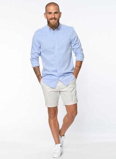 North Of Navy Uzun Kollu Gömlek Mavi